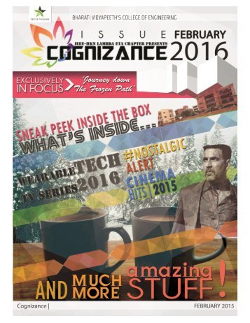 Cognizance February 2016