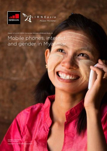 Mobile phones internet and gender in Myanmar