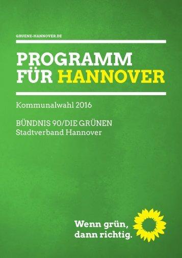 PROGRAMM FÜR HANNOVER