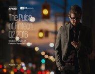 Global Analysis of Fintech Venture Funding August 17 2016
