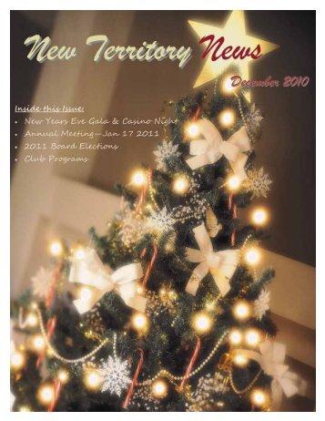 DECEMBER 2010 - New Territory
