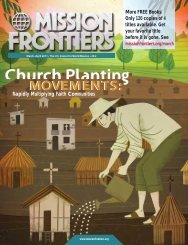 Rapidly Multiplying Faith Communities - Mission Frontiers