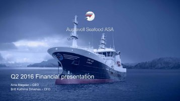 Q2 2016 Financial presentation