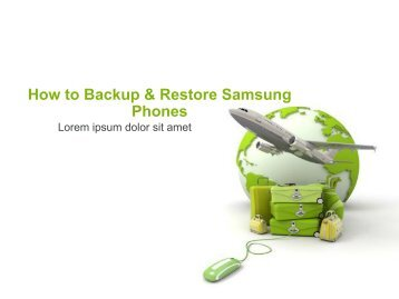 How to Backup & Restore Samsung Phones