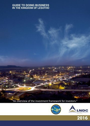 Guide To Doing Business In the Kingdom of Lesotho 2016