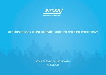 Are businesses using analytics and call tracking effectively?