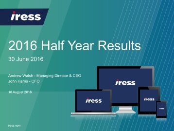 2016 Half Year Results
