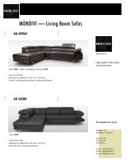 Export Catalogue - MONDIVI Living Room Sofas 2016