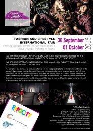 Fashion&Lifestyle Fall Winter 2016 - Brochure (Ente Fiera)