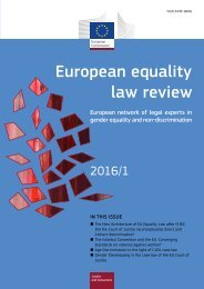 European equality law review