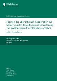 Formen der überörtlichen - MBA Programme der HWR Berlin