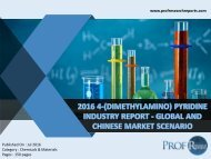 2016 4-(DIMETHYLAMINO) PYRIDINE INDUSTRY REPORT - GLOBAL AND CHINESE MARKET SCENARIO