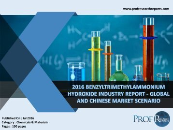 2016 BENZYLTRIMETHYLAMMONIUM HYDROXIDE INDUSTRY REPORT - GLOBAL AND CHINESE MARKET SCENARIO