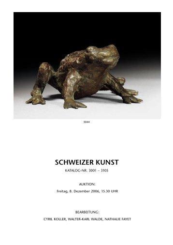 SCHWEIZER KUNST - Koller Auktionen