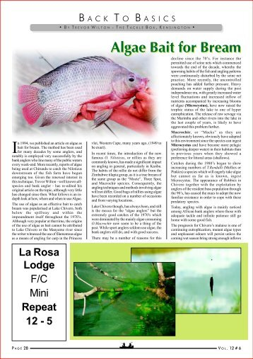Algae Bait for Bream La Rosa Lodge - HuntNetwork