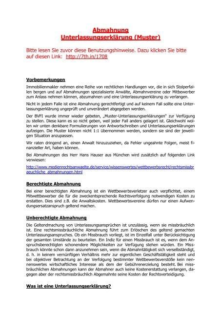 Unterlassungserklarung Muster Download Freeware De 14