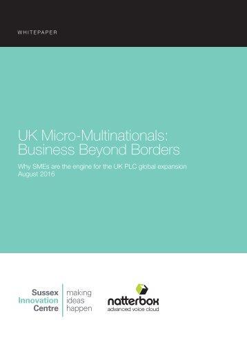 UK Micro-Multinationals Business Beyond Borders