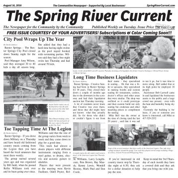 Spring River Current Issue #12 August 16, 2016