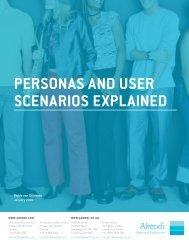 PERSONAS AND USER SCENARIOS EXPLAINED