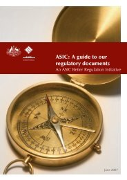 ASIC: A guide to our regulatory documents - Australian Securities ...