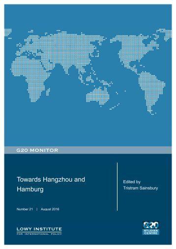Towards Hangzhou and Hamburg