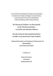 Die Messung des Einfluss von Heterogenität - Philipps-Universität ...