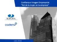 """Confianza e Imagen Empresarial """"Rol de la mujer en la empresa"""""""