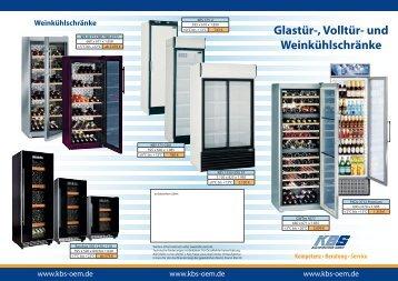 Glastür-, Volltür- und Weinkühlschränke