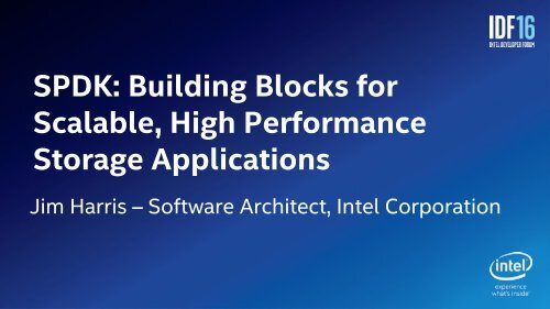 Scalable High Performance Storage Applications