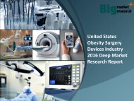United States Obesity Surgery DevicesIndustry 2016 Demand & Strategies