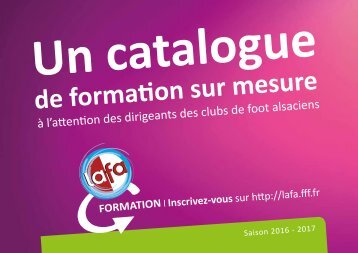 Catalogue Formation Dirigeants 2016-2017