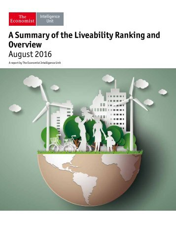 A Summary of the Liveability Ranking and Overview August 2016