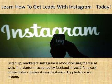 Instagram marketing experts