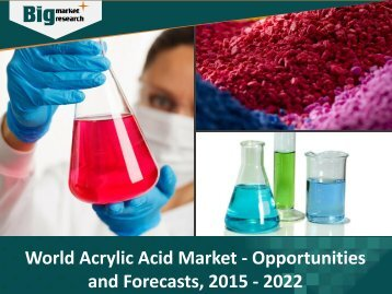 World Acrylic Acid Market Opportunities and Forecasts, 2015 - 2022
