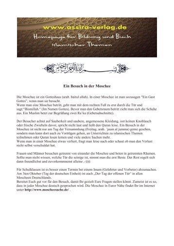 Ein Besuch in der Moschee www.assira-verlag.de