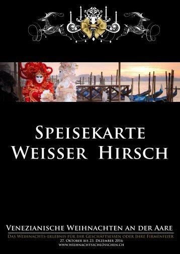 2 - Speisekarte Weisser Hirsch