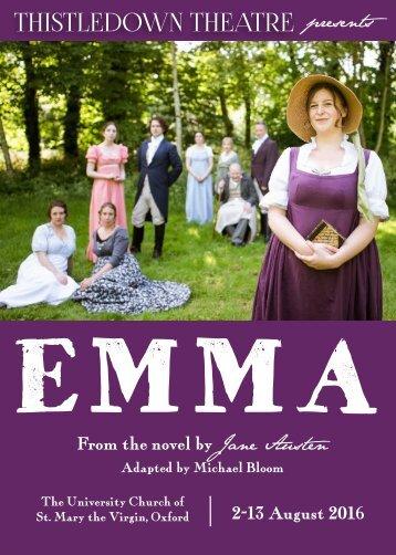 Programme (Thistledown Theatre's Emma)