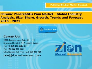Chronic Pancreatitis Pain Market