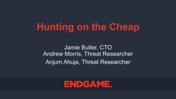 Hunting on the Cheap
