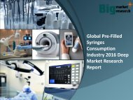 Global Pre-Filled Syringes Consumption Industry 2016 Report & Demand