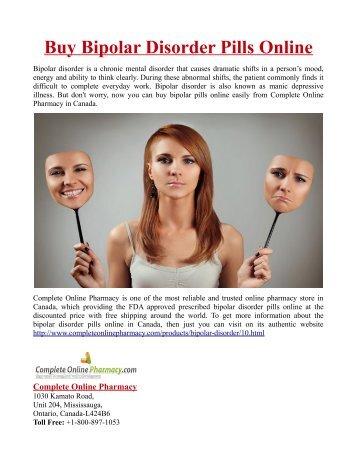 Buy Bipolar Disorder Pills Online