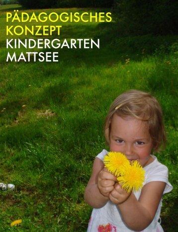 Kindergarten Mattsee - Pädagogisches Konzept 2016-2017
