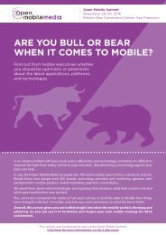 ARE YOU BULL OR BEAR WHEN IT COMES TO MOBILE?