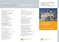 Symposium Gynäkologie Stuttgart 2012 - Endokrinologikum