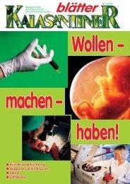 Künstliche Befruchtung Diagnosen an Embryonen Klonen Euthanasie