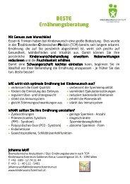 BESTE Ernährungsberatung.pdf - Kinderwunschzentrum