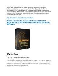 MarketTapp Review-(Free) bonus and discount