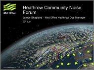 Heathrow Community Noise Forum