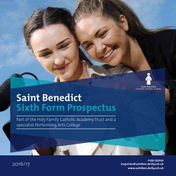 Saint Benedict Sixth Form Prospectus