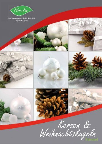Katalog Weihnachtskugeln Kerzen 2016 | Flora Fee